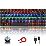 Hoopond Mechanical Keyboard, AK33 Rainbow LED Backlit USB Cable Gaming Mechanical Keyboard, 82
