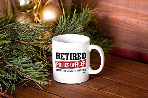 Product Image 2: Retired Police Officer Gifts Mug Funny Christmas Retiring Retirement Gag Gifts for Women Men Dad Mom Retirement Coffee Mug Gift. Retired Mugs for Coworkers Office & Family. Unique Ideas for Her & Him