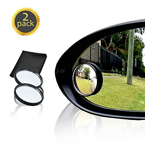 """Drive Safe Blind Spot Mirrors HD 2"""" Fixed Round Glass Blind Spot Mirror 2-Pack   Ultimate Rear View Mirror for All Cars   Eliminate and Improve Your Blind Spots   Ideal for Parallel Parking"""