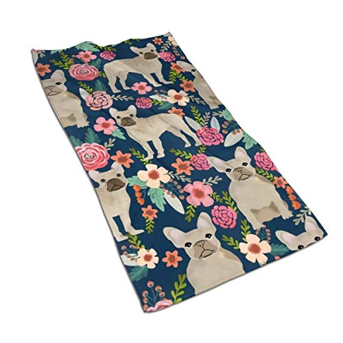 Fast Dry Beach Towels French Bulldog Dogs Superfine Fiber Baby Beach Towel Cover up for Camping Surfing Swimming Class Honeymoon Hawaii Summer Vacation Other Water Activities Swimming 32INx52IN