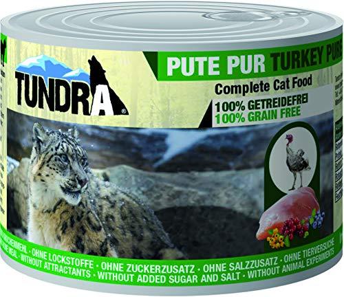 Tundra Katzenfutter Pute Pur, Nassfutter - Getreidefrei (36 x 200g)