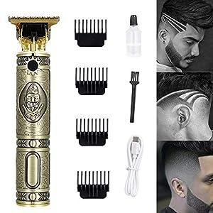 Tagliacapelli per uomo e bambino, professionale, set di regolatori elettrici per barba ricaricabile senza fili, con 4 pettini guida, 1,5/2/3/4 mm, taglio a T
