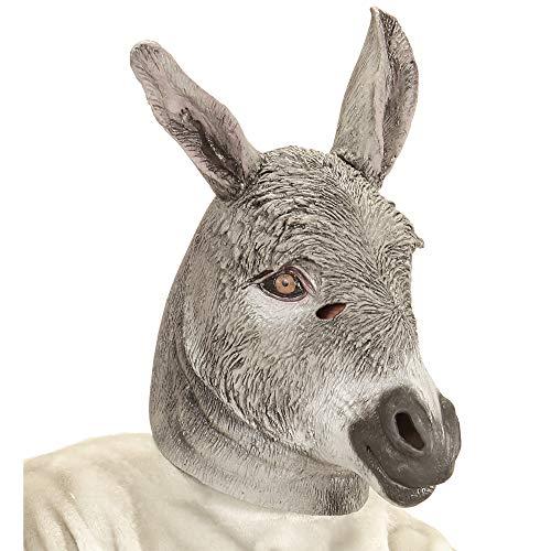 Widmann 11010679 Ganzkopf Maske Esel, Grau, Einheitsgröße