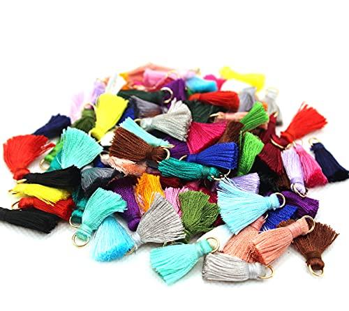 Afrsmw 100pcs 2cm Mini Borlas de Algodón Colores