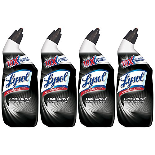 Lysol Toilet Bowl Cleaner with Lime and Rust Remover, 24 Fl Oz (Pack of 4)