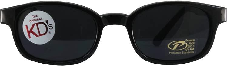 The Original X-KD's Biker Shades By PCSUN 20% Larger Black Frames Grey Lenses