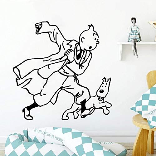 Pegatinas de pared de dibujos animados para habitación de niños, calcomanías de vinilo Art Deco para pared interior, decoración moderna para el hogar para adolescentes, habitación de niños