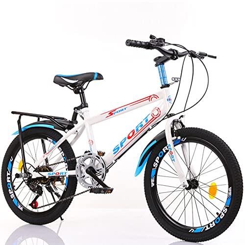 DWXN Bicicletas para niños 10-15 con Asiento Trasero 18 Wheels Variable Velocidad sin Cesta Niños Mountain Bike Edition para niños y niñas