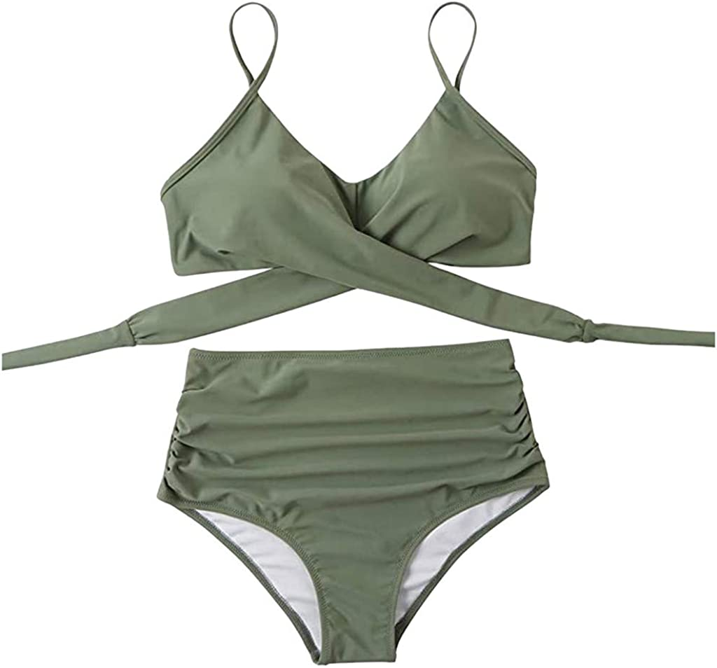 Bikinis Superior for El Paso Mall Women High Waisted Womens Pieces Sexy Swimsuits Two