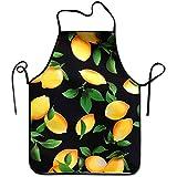 AOOEDM Delantal de Cocina Unisex Delantal de Babero Mujeres Adultas Unisex Durable Cómodo Lavable para cocinar Hornear Cocina Restaurante elaboración de árbol de limón
