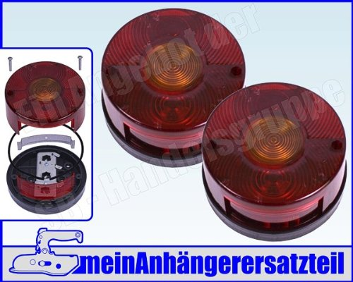 2x DDR Rückleuchten Rücklichter rund ohne KZL für DDR Anhänger & IFA Fahrzeuge