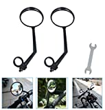 ZOSEN 1 Pair Rearview Bicycle Mirrors, 360 Degree Rotation Adjustable Bike Mirrors, Suitable