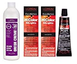 LOreal Hicolor Hilights for Dark Hair Only Magenta 2-Pack with 16 ounce Oreor Crme 30 Developer