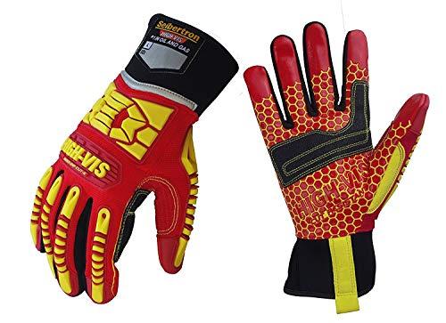 Seibertron HIGH-VIS HRC5 Rigger Silikon Grip Cut 5 Impact Viz Heavy Duty Handschuhe Abrieb Öl & Gas Bohren Sicherheit Schlagschutz Handschuhe M