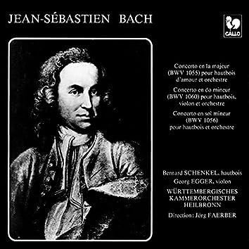 Bach: Oboe d'amore Concerto in A Major, BWV 1055R - Concerto in C Minor for Violin & Oboe, BWV 1060R - Oboe Concerto in G Minor, BWV 1056R