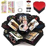 Explosion Box a Cuore Scatola Regalo Sorpresa, Explosion Box Foto Scrapbooking Photo Album, Idee...