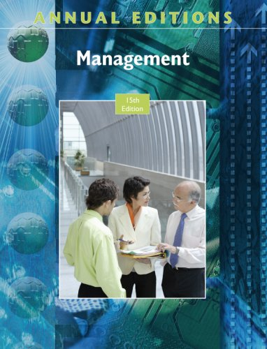 Annual Editions: Management, 15/e