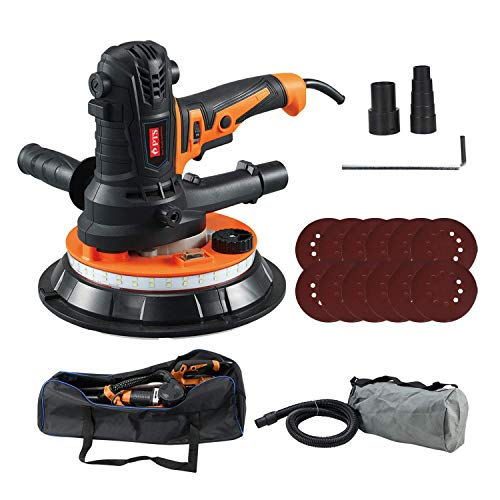 Electric Drywall Sander Machine - Handheld Power Tools with Dust Collector Bag and Vacuum Attachment