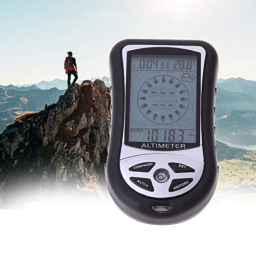 Hongma 8 in 1 Digital Kompass Altimeter Barometer Thermometer Höhenmesser MEHRWEG