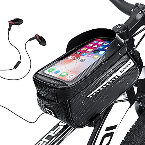 LOVEXIU Marsupio Bici,Borsa Bici,Porta Cellulare da Bici,Borse Manubrio Bicicletta,Porta Telefono per Bicicletta,Touch Scree Porta Telefono,Impermeabile Manubrio Ciclismo
