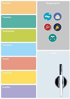 Balvi Pizarra Nevera magnética Week Planner con 5 imanes, rotulador y Borrador Plástico PP 42 cm
