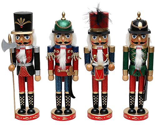 Sigro 4 Assorted Notenkraker Metallic Soldaten Figuur, Multi Kleur