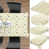 ANRO Tischdecke Wachstuch abwaschbar Wachstuchtischdecke Wachstischdecke Kinder Geburtstag Tiere Hellgrün 100x140cm - 5