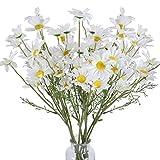 XHXSTORE 10PCS Fleurs Artificielles Marguerite en Soie Bouquet Fleur Deco pour Vase Cimetière Table Maison Bureau Café