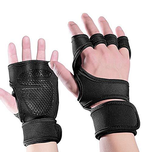 MMGCHandschuhe Im Freien Männer Und Frauen, Die Gewichtheben Fitness Tauchen Material Rutschfeste Silikon-Halbfinger Training Hard Pull Handschuhe Reiten