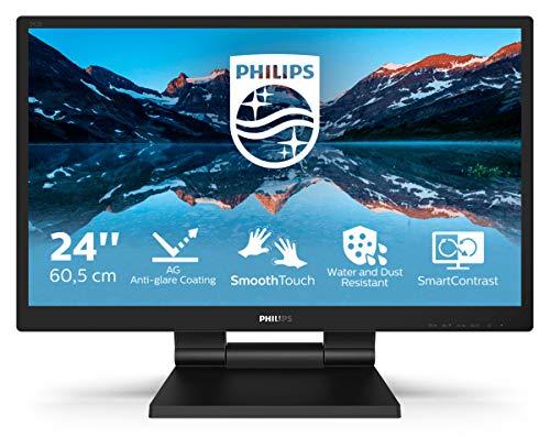Philips 242B9TL - Monitor táctil FHD de 24 Pulgadas, 60 Hz, 1 ms, TN, Altavoces, Ajuste de Altura (1920 x 1080, 250 CD/m² HDMI, DVI/VGA/DP/USB 3.1)