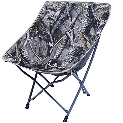 Z-ZH Camping Klappstuhl, tragbare Liegestühle, Compact Moon Chair mit Tragetasche für Camping, Angeln, Wandern, Picknick, Garten, Rucksackreisen, Picknick Strandkorb