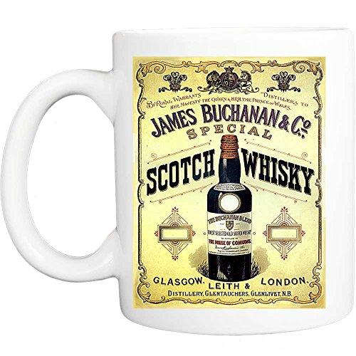 James buchanan speciale glasgow london scotch whisky retro shabby chic vintage stijl grappige mok
