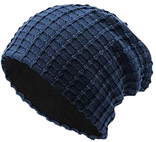 XXY Hombre De Algodón Ardiente Espesos Cuadrados Soreie Hats Modeling (Color : Navy)