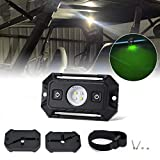 LED Dome Light W/ Switch Universal LED Light Utility Roll Cage Light Car Interior Reading Light LED Rock Lights Interior Dome Light for UTV RZR 4x4 Can-Am Polaris Ranger Truck-White/Green