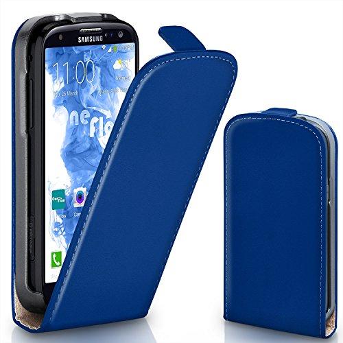 MoEx® Flipcase kompatibel mit Samsung Galaxy S3 / S3 Neo | Klapphülle Handytasche mit Rundum Schutz - Handy Hülle Klappbar Flip Case, Dunkel-Blau