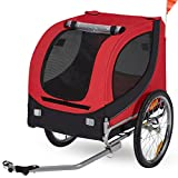 Esright Dog Bicycle Trailer, Pet Bike Trailer Ride Fun Carrier Jogging...