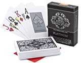 Bullets Playing Cards cartes de poker imperméables Platinum poker cards 100% plastic premium Texas Holdem Poker cut card inclusive