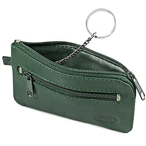 Großes Schlüsseletui/Schlüsselmäppchen aus Leder, für Damen und Herrn, Jäger-Grün, Branco 018
