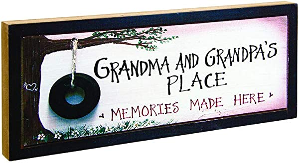 Timeless By Design Grandma And Grandpa S Place Wood Block Sign