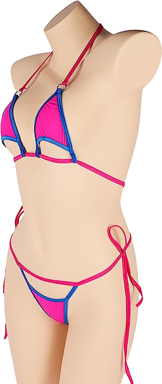 Women's Halter Triangle Bikini Tie Side Bottom Two Piece Swimsuit