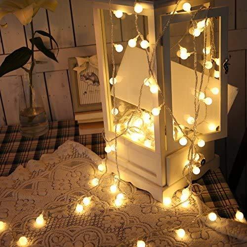 SUPERKIT Globe Lichterkette Warmweiß Außen/Innen LED lichterkette Warmweiß 40LED Außenlichterkette Wasserdicht Beleuchtung Weihnachtsbeleuchtung für Weihnachten Halloween Hochzeit 6M