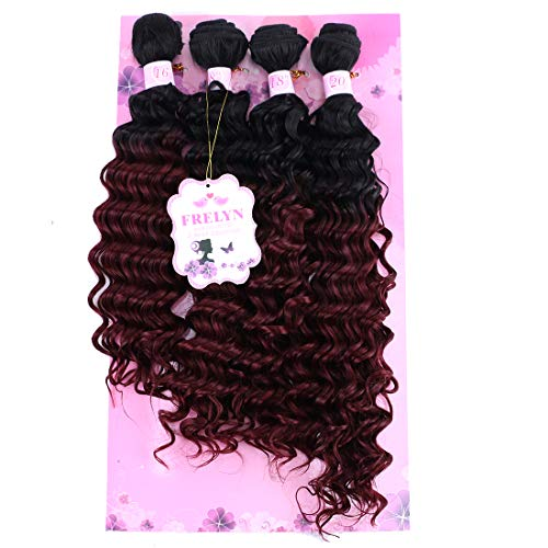Burgundy curly weave _image2