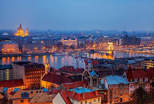 LZQZJD® Adultos 2000 Piezas Puzzle Budapest Family Game Team Building Regalos y Regalos para Amantes o Amigos