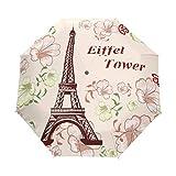 LIUBT - Paraguas con 3 pliegues, diseño de la Torre Eiffel de París