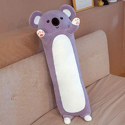 ASDFF 70-110 CM Lindo Panda Koala Juguetes de Peluche Kawaii Relleno Suave Almohada Larga muñecas para bebés niñas cojín para Dormir Regalo de cumpleaños 90 cm Koala