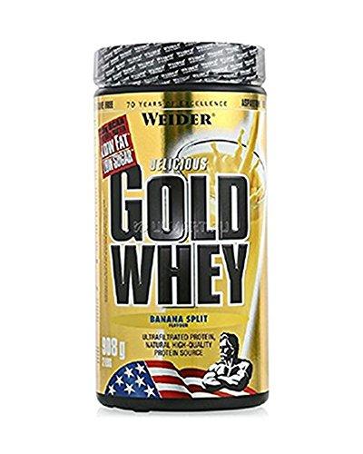 Weider, Gold Whey Protein, Banane-Split , 1er Pack (1x 908 g)