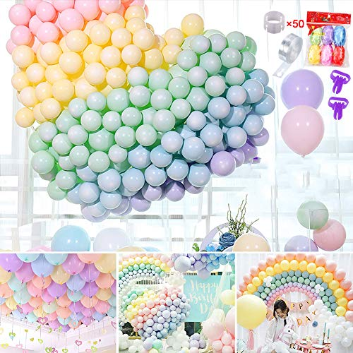 1 200-PACK HYOUNINGF Palloncini Pastello Macarons Palloncini in Lattice per Feste per Compleanno Matrimonio Festa di Laurea Natale Baby Shower