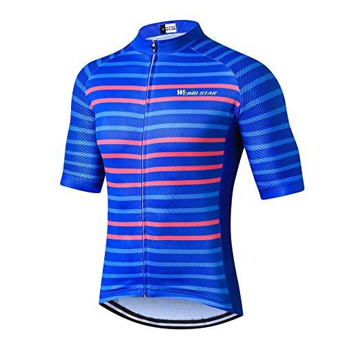 weimostar Mountainbike Jersey Herren Bike Shirt Kurzarm S-3XL, atmungsaktiv und schnell trocknend