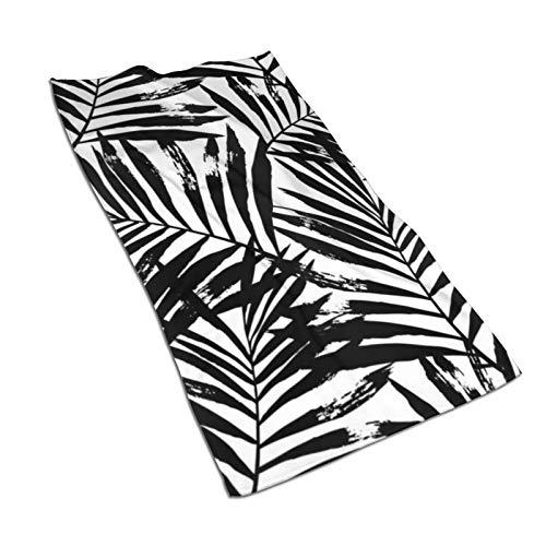 Toalla de mano de secado rápido Boho Diamond color blanco y negro súper absorbente de secado rápido, toalla de baño/toalla de playa – 27.5 x 17.5 pulgadas