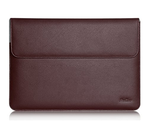 ProCase Surface Laptop 2017 / Surface Book Macbook Pro 13 Case Sleeve, Protective Sleeve Cover for 13' Macbook Pro 2018 2017 2016 / Pro Retina/Macbook Air 13.3' / Surface Book Tablet Laptop -Brown